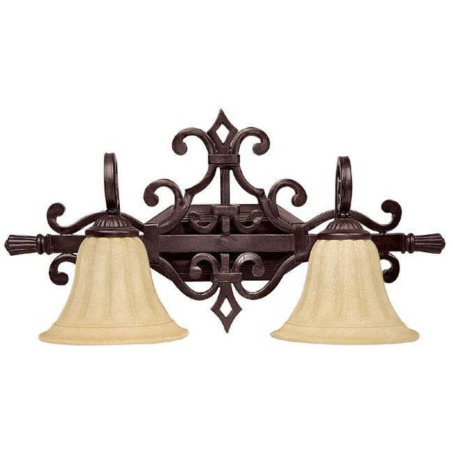 Moving Bathroom Vanity Light: Two Light Medium Bronze Vanity (1052MBZ-268)